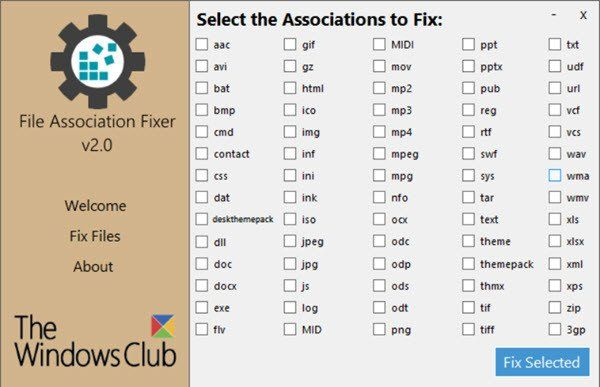 File Association Fixer untuk Windows