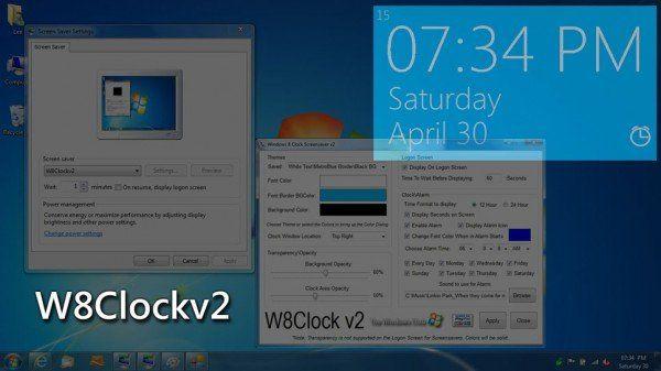 Lataa Windows 8 Clock Logon Screensaver for Windows 7