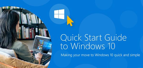 Descargue la Guía de inicio rápido para Windows 10 de Microsoft