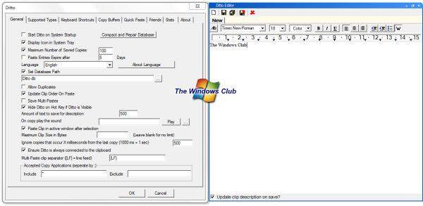 Ditto: Ekstensi papan klip yang kuat untuk Papan Klip Windows