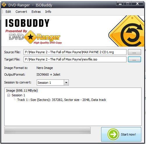 ISOBuddy : 모든 디스크 이미지를 ISO로 변환 및 굽기