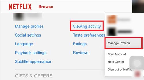 Cómo eliminar el historial visto recientemente de la cuenta de Netflix