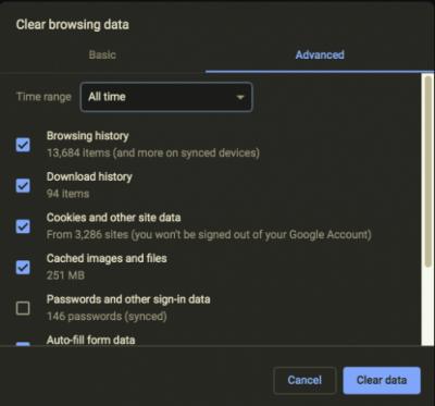 Google Chrome-Browser-Downloads bleiben zu 100% hängen