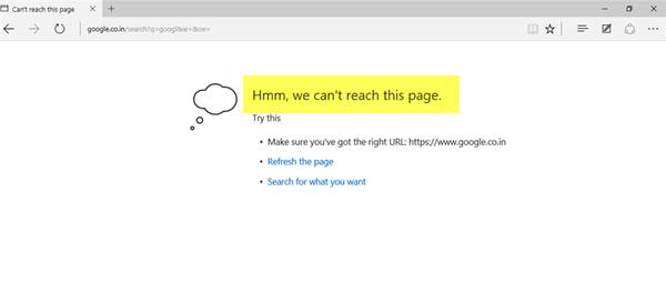 Les applications Edge et Store ne se connectent pas à Internet - Erreur 80072EFD