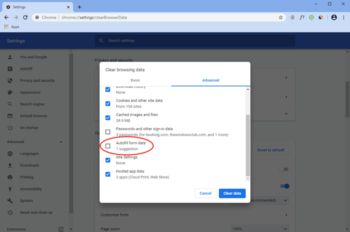 Cara mematikan ciri AutoComplete URL Chrome pada PC Windows