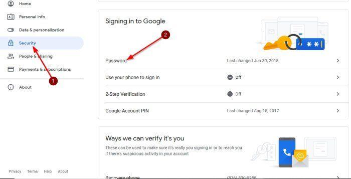 మీ Google ఖాతా పాస్వర్డ్ను ఎలా మార్చాలి