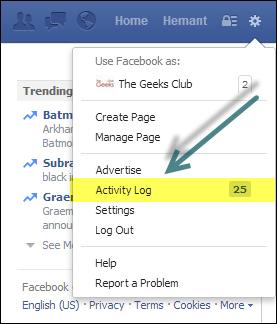 Supprimer ou supprimer l'intégralité de votre historique de recherche Facebook
