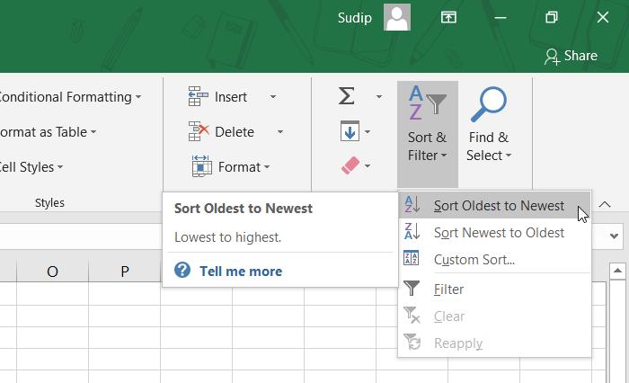 Како сортирати податке по датуму у програму Екцел