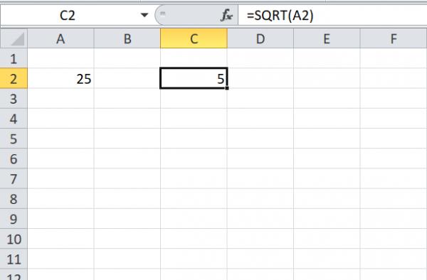 3 façons différentes de trouver la racine carrée d'un nombre dans Excel