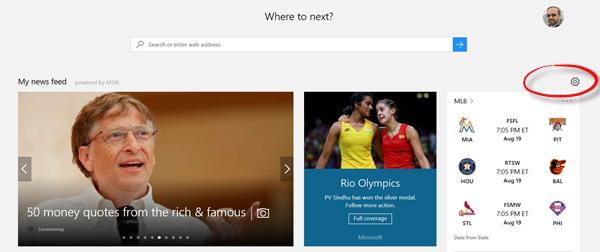Como personalizar ou desativar o feed de notícias do MSN na página inicial do navegador Edge