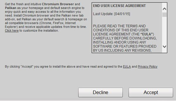 Uklonite Chromium malware