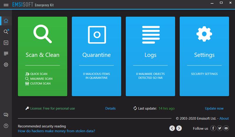 Emsisoft Emergency Kit: Anti-malware portable gratuit avec double moteur