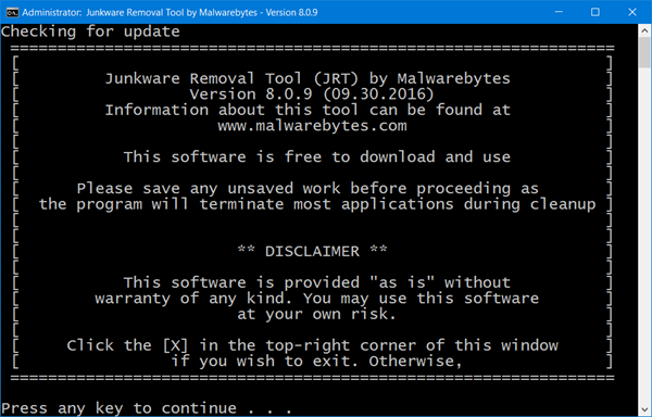 Outil de suppression de Malwarebytes Junkware