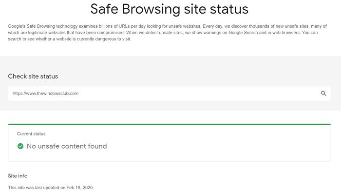 Jak zkontrolovat, zda je web nebo adresa URL bezpečná pomocí online skenerů adres URL atd.
