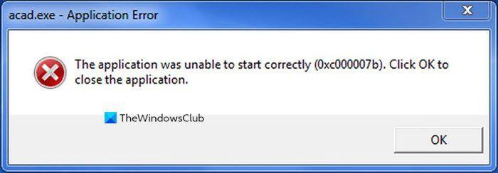 Error 0x000007b, la aplicación no pudo iniciarse correctamente en Windows 10