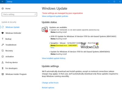 Chyba 0x80240017 při stahování nebo instalaci služby Windows Update v systému Windows 10