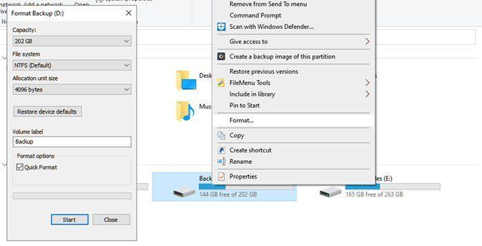Cómo formatear un disco duro o un disco en Windows 10