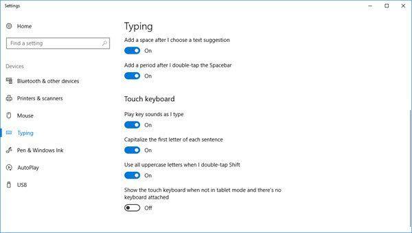 Paramètres et astuces du clavier tactile Windows 10