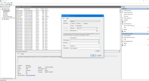 ID d'événement du service de profil utilisateur 1500, 1511, 1530, 1533, 1534, 1542