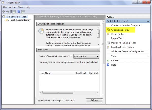 So planen Sie eine Aufgabe in Windows 10 mit dem Assistenten zum Erstellen grundlegender Aufgaben