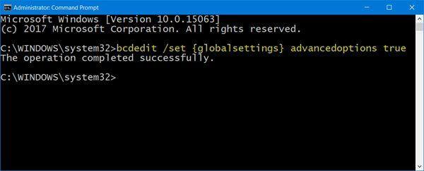 Kako pokrenuti Windows 10 izravno na zaslon Napredne postavke pokretanja
