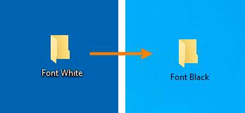 Comment changer la couleur de la police du bureau dans Windows 10