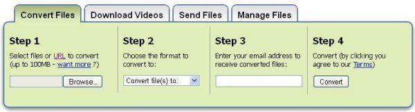 Zamzar convertit les fichiers en différents formats sans télécharger de logiciel