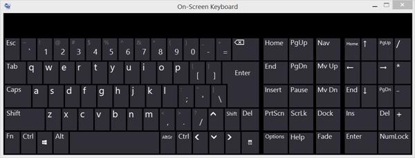 Екранна тастатура Виндовс 10 појављује се приликом пријављивања или покретања