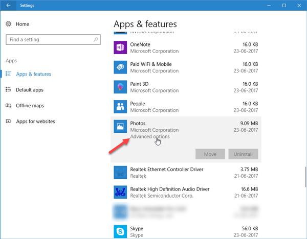 L'application Windows 10 Photos est lente à s'ouvrir ou ne fonctionne pas