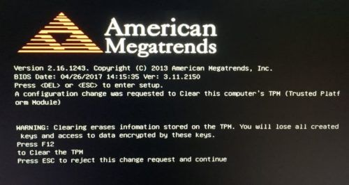 Oberfläche auf schwarzem Bildschirm mit amerikanischen Megatrends