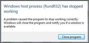 Rundll32.exe లోపం పరిష్కరించండి - విండోస్ హోస్ట్ ప్రాసెస్ Rundll32 పనిచేయడం ఆగిపోయింది