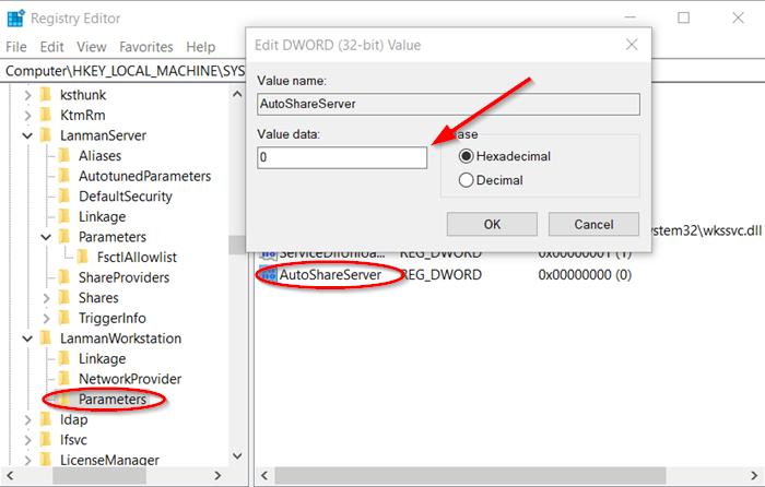 Comment supprimer des partages administratifs dans Windows Server