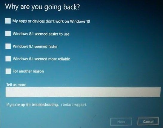 Revenir à Windows 10 ab