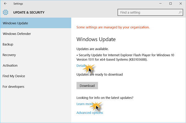 Buscar actualizaciones en Windows 10 2