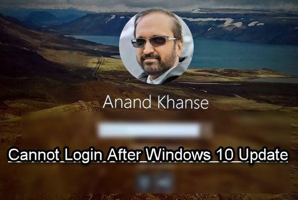 Impossible de se connecter à Windows 10 après la mise à jour