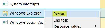 كيفية إنهاء أو قتل explorer.exe في نظام التشغيل Windows 10