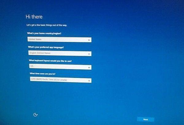 Windows 10 bloqué sur l'écran Salut là-bas