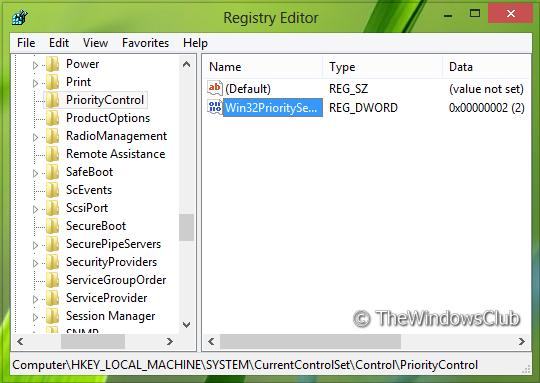 Optimizirajte Windows za najbolje performanse programa ili pozadinskih usluga