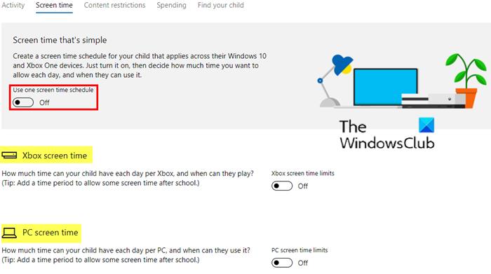 Windows 10 PC veya Xbox One'da çalışmayan Ekran Süresi Sınırları