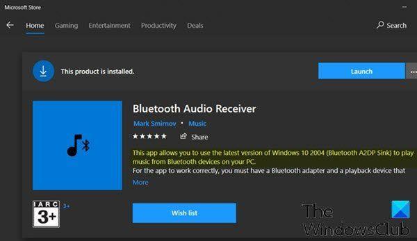 Diffusez de la musique depuis Android et iPhone vers un PC Windows 10 via un récepteur Bluetooth A2DP