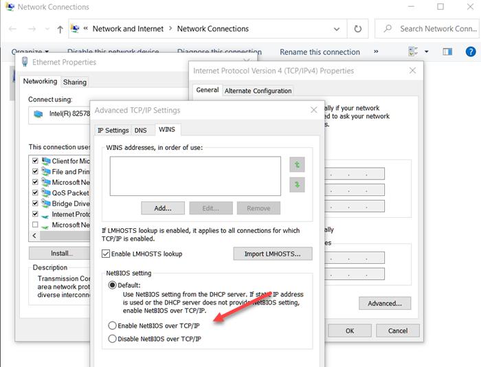 Jak povolit nebo zakázat NetBIOS přes TCP / IP ve Windows 10