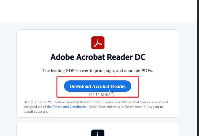 PDF ని తెరిచినప్పుడు, చదివేటప్పుడు లేదా సేవ్ చేసేటప్పుడు అడోబ్ రీడర్ లోపం 109 ను పరిష్కరించండి