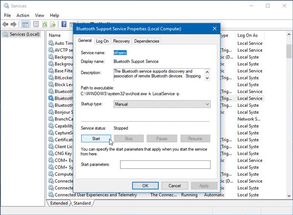 Windows n'a pas pu se connecter avec l'erreur de votre périphérique réseau Bluetooth