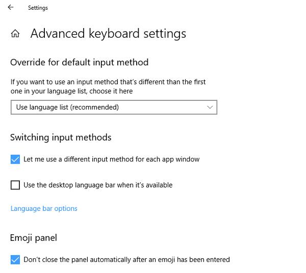 Corriger les changements de langue du clavier Windows 10 seul