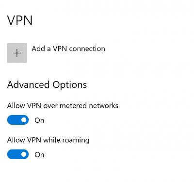 Opravit připojení VPN a poté se automaticky odpojí ve Windows 10