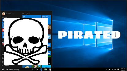 Miks mitte kasutada Windows 10 piraatkoopiat
