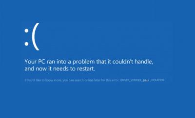 "DRIVER_VERIFIER_DMA_VIOLATION ""Blue screen"" klaida ""Windows 10"""