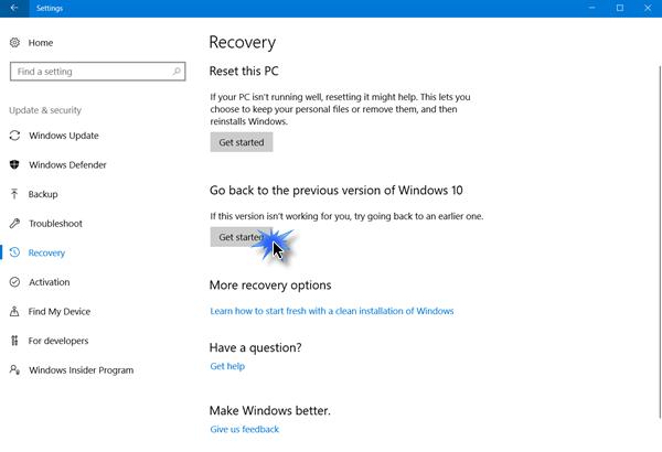 كيفية التراجع عن تحديث Windows 10 الإصدار 20H2 أكتوبر 2020