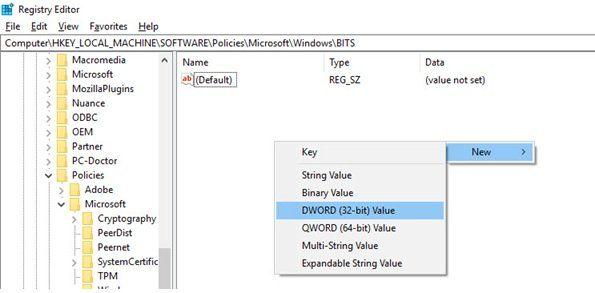Limiter la bande passante et définir l'heure de téléchargement des mises à jour Windows - Configurer les paramètres BITS